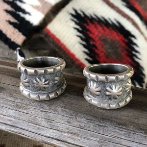 Minty Claw Navajo Sterling Bands